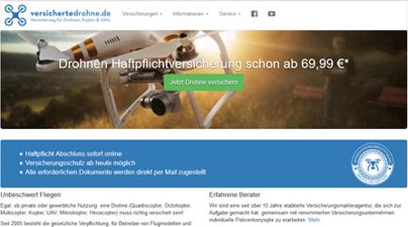 versichertedrohne.de ist eine günstige Drohnen Versicherung für die Schweiz